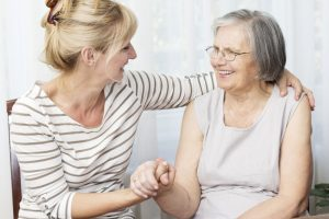 caring for elderly parent